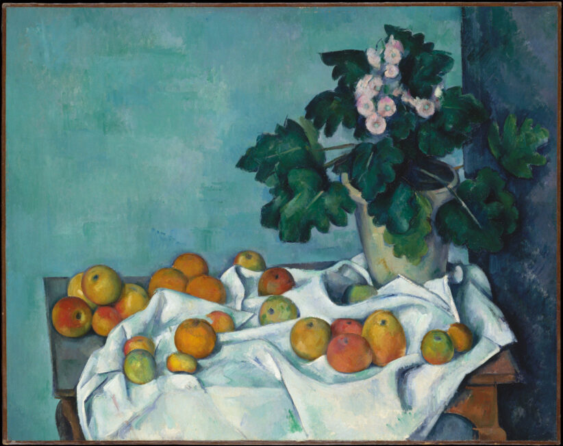 Primule e arance in Cezanne
