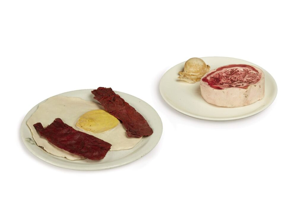 Claes Oldenburg, Bacon and Egg, Ice Cream, and Beef Steak @ Sotheby's