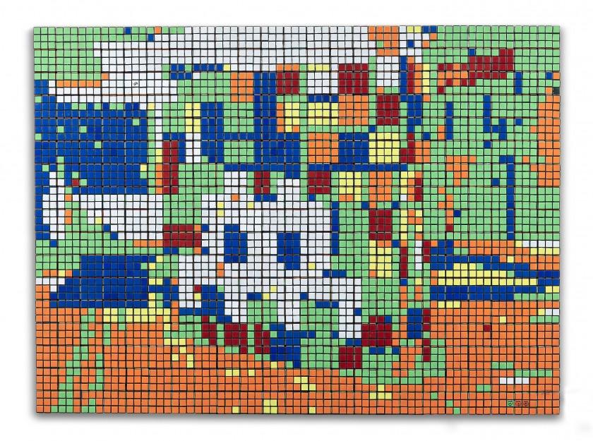 Invader detronizza la 'Gioconda' con il 'Rubik Space' a 492.600 euro da Artcurial