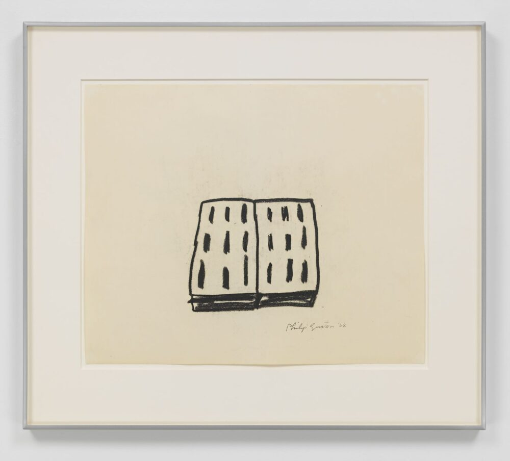 Philip Guston Untitled 1968 Charcoal on paper 45.7 x 54.9 cm / 18 x 21 5/8 in Photo: Genevieve Hanson