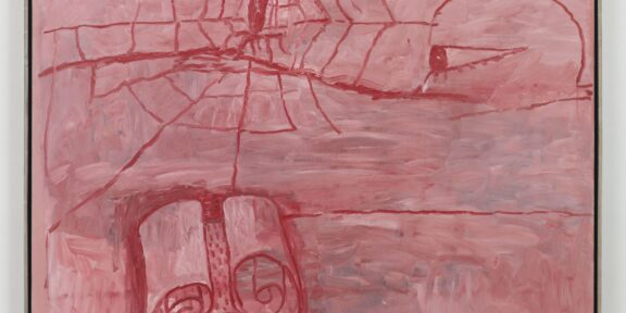 Philip Guston The Poet 1975 Oil on canvas 174.8 x 188.8 x 2.5 cm / 68 7/8 x 74 3/8 x 1 in Photo: Genevieve Hanson