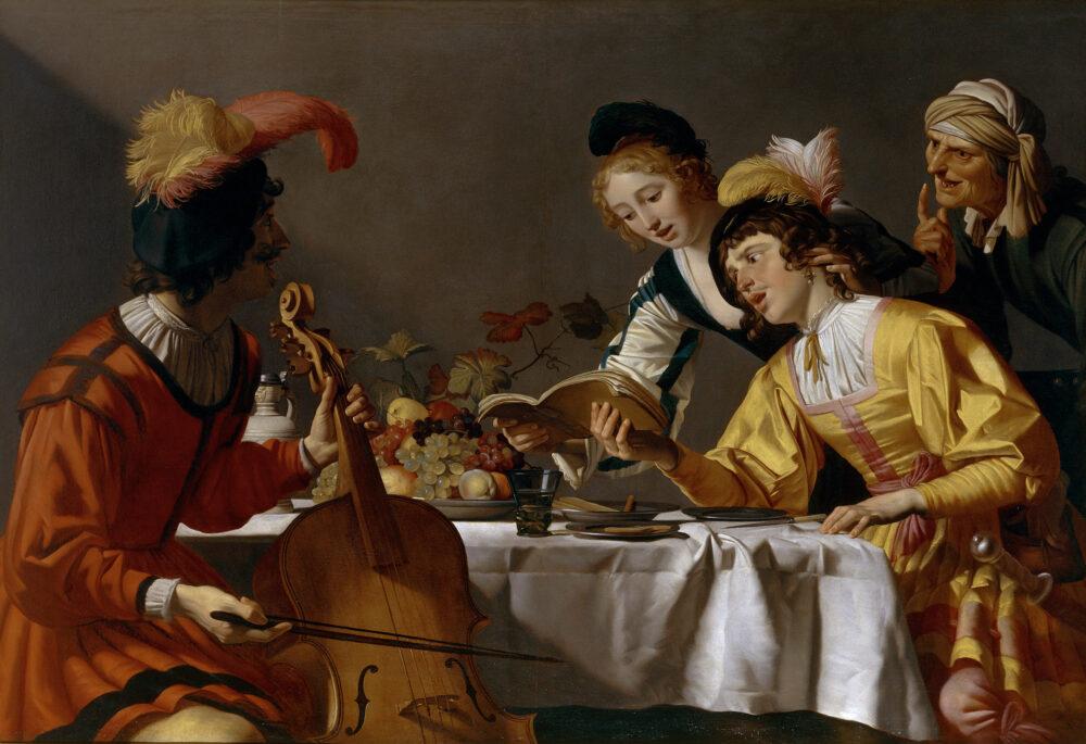 Gerrit van Honthorst, Concerto, olio su tela, Galleria Borghese © Ministero per i beni e le attività culturali e per il turismo - Galleria Borghese