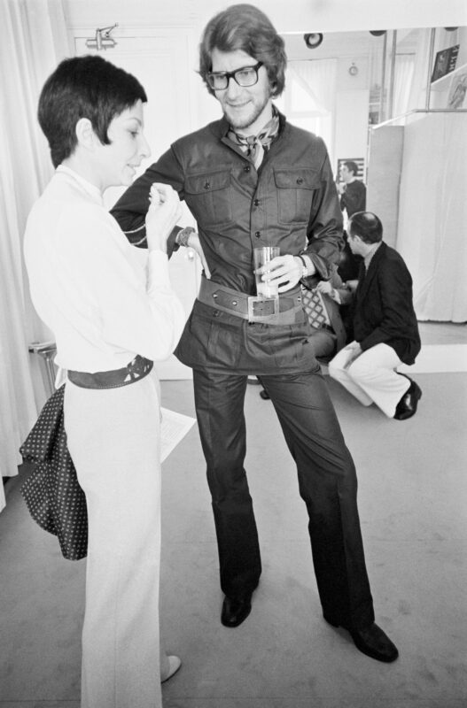 Zizi Jeanmaire e Yves Saint Laurent