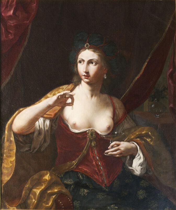 Elisabetta Sirani, Cleopatra Olio su tela, 110x91 cm Collezione Privata