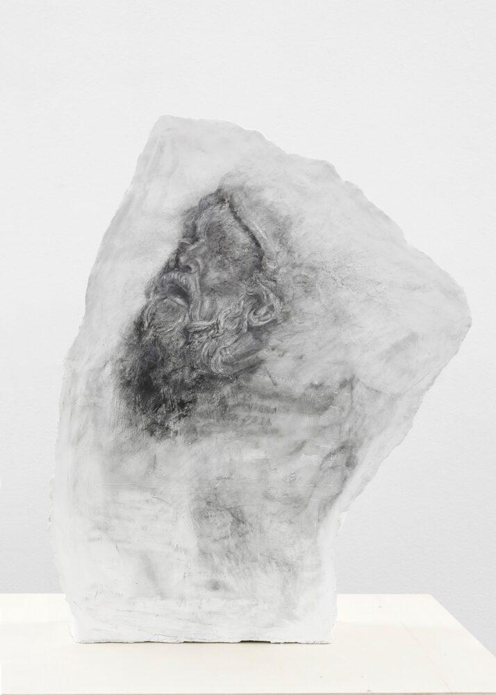 Francesco Barocco, Senza titolo, 2018, gesso, grafite, 78 x 56 x 15,5 cm, CourtesyNorma Mangione Gallery