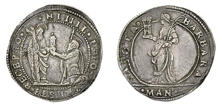 All'asta la moneta di Mantova con la Pisside del sangue di Cristo