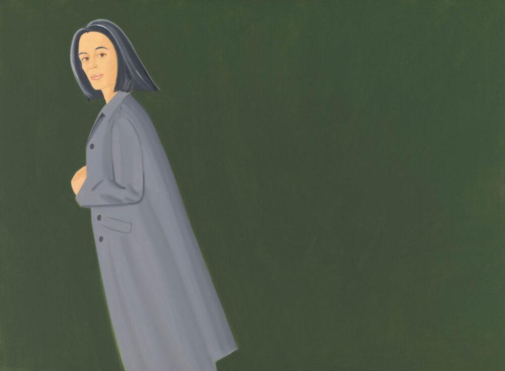 Alex Katz, Grey Coat, 1997, olio su tela. © Alex Katz, VG Bild-Kunst, Bonn 2018, Courtesy Udo and Anette Brandhorst Collection. Foto: Haydar Koyupinar, Bayerische Staatsgemäldesammlungen, Monaco di Baviera