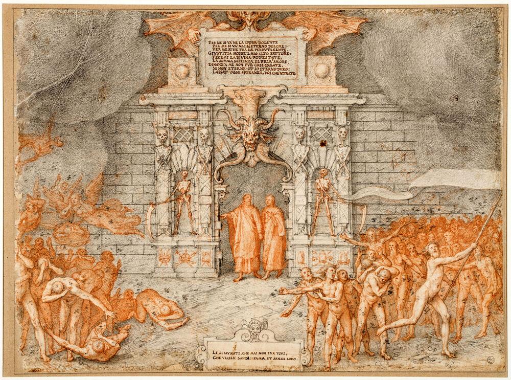 Gli Uffizi omaggiano Dante in una mostra online con i disegni della Commedia di Federico Zuccari