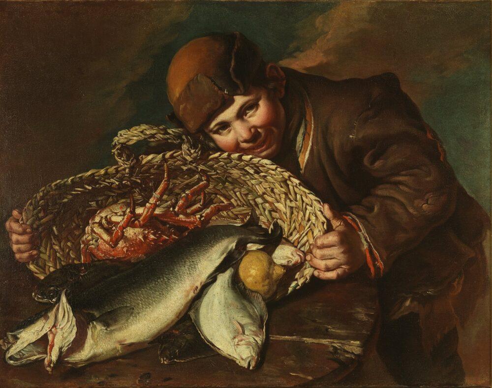 Giacomo Ceruti detto il Pitocchetto, Ragazzo con cesta di pesci