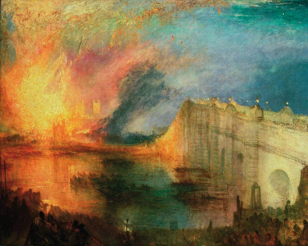 J.M.W. Turner, The Burning of the Houses of Lords and Commons, 16 October 1834