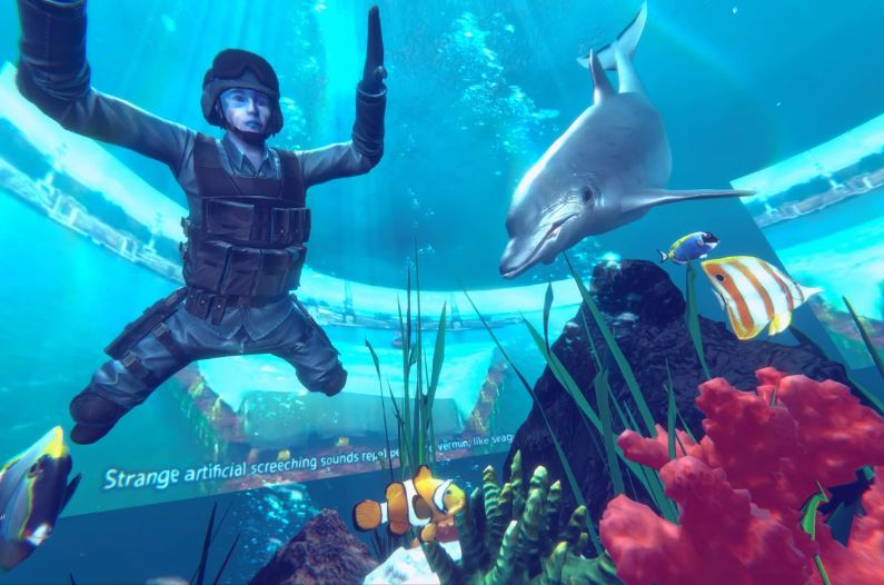 Hito Steyerl, Virtual Leonardo's Submarine, 2020. Frame del video 3D
