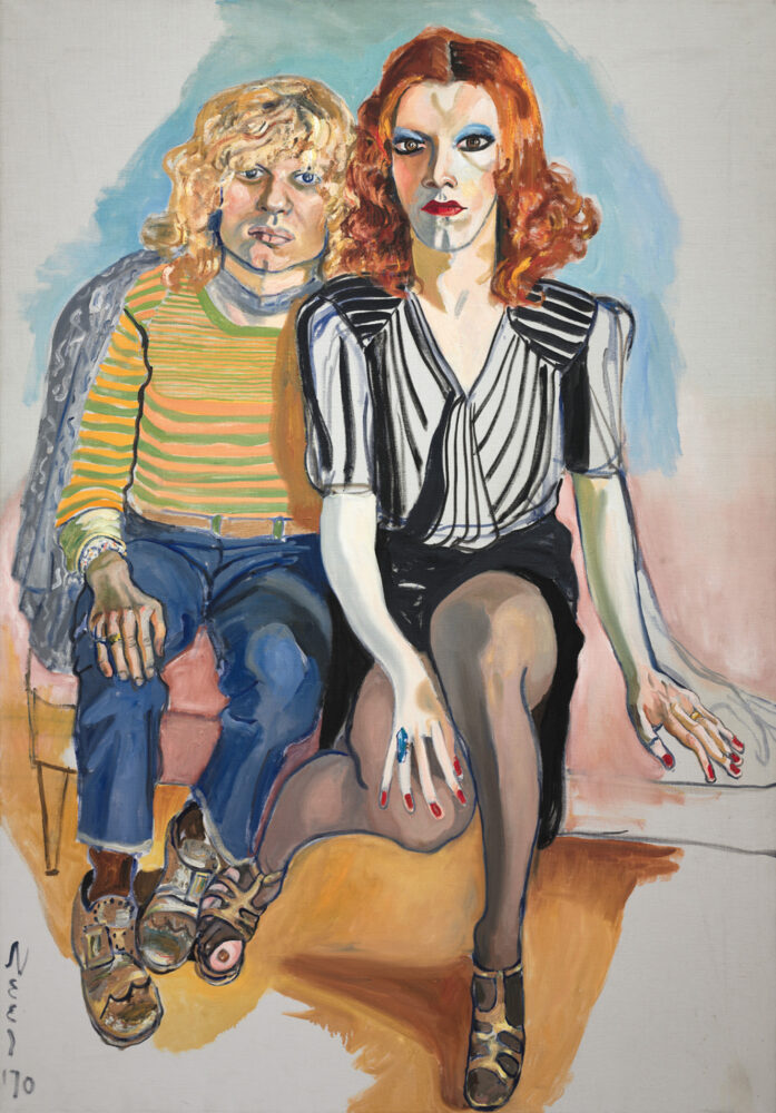 Alice Neel, Jackie Curtis and Ritta Redd, 1970. Oil on canvas, framed: 154.30 x 108.90 cm, unframed: 152.40 x 106.40 cm. The Cleveland Museum of Art, Leonard C. Hanna