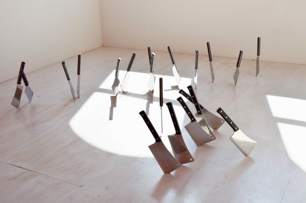 Barry Le Va, Four (Cleaved Floor)