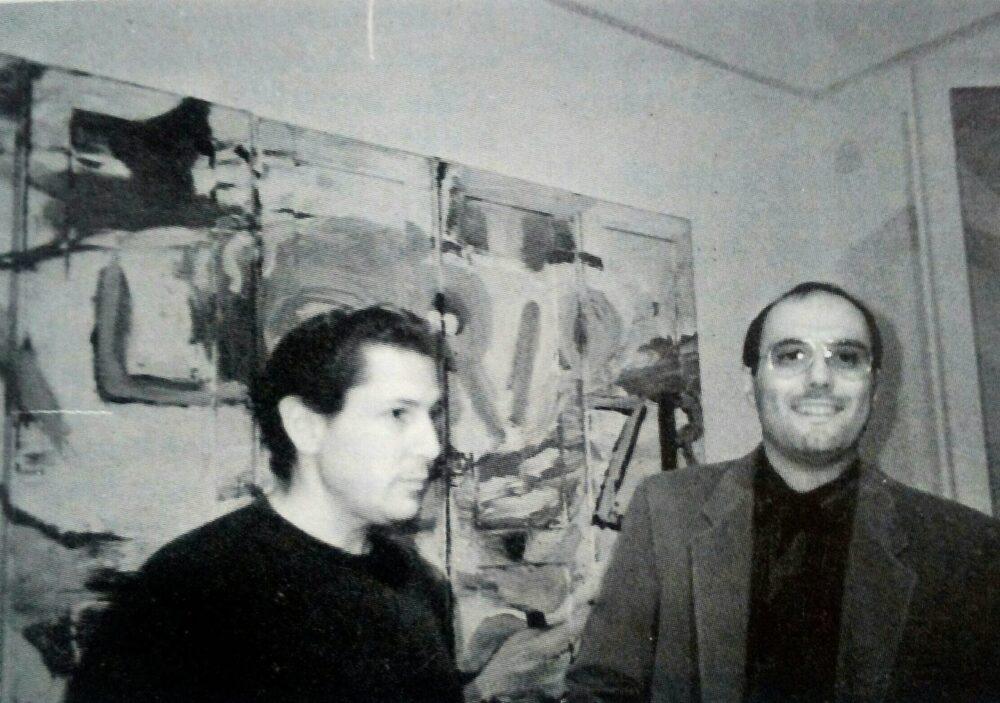 Bruno Ceccobelli con Julian Schnabel