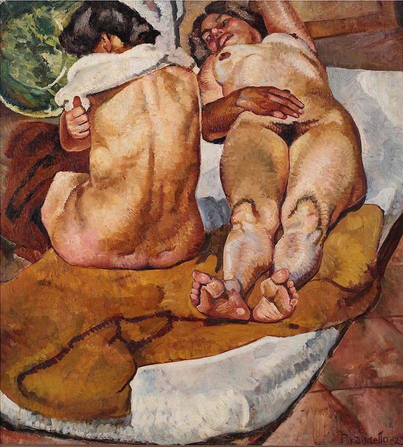 Fausto Pirandello, Composizione, 1923, olio su tela, misure. Roma, collezione privata