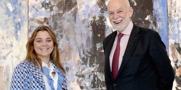 Francesca Lavazza, Board Member del gruppo Lavazza, con Richard Armstrong, direttore del Guggenheim Museum