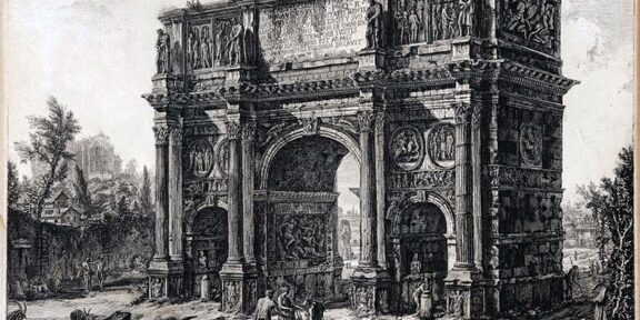 Giovanni Battista Piranesi, Arco di Costantino, acquaforte