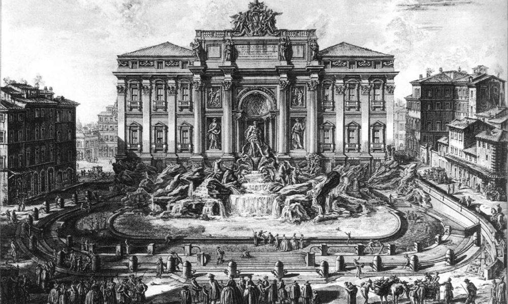 Giovanni Battista Piranesi, Fontana di Trevi a Roma