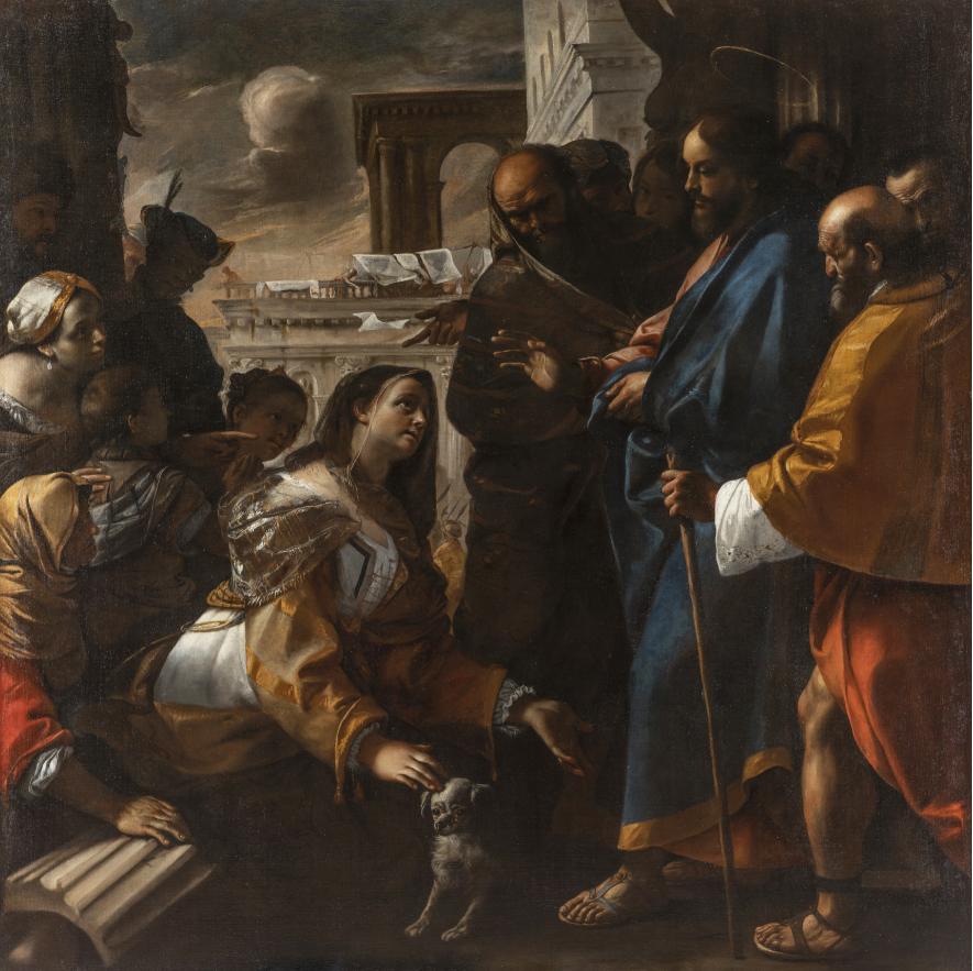 Mattia Preti, Cristo e la Cananea, 1646-1647, olio su tela. Roma, Collezione dei Principi Colonna. Foto Mauro Coen