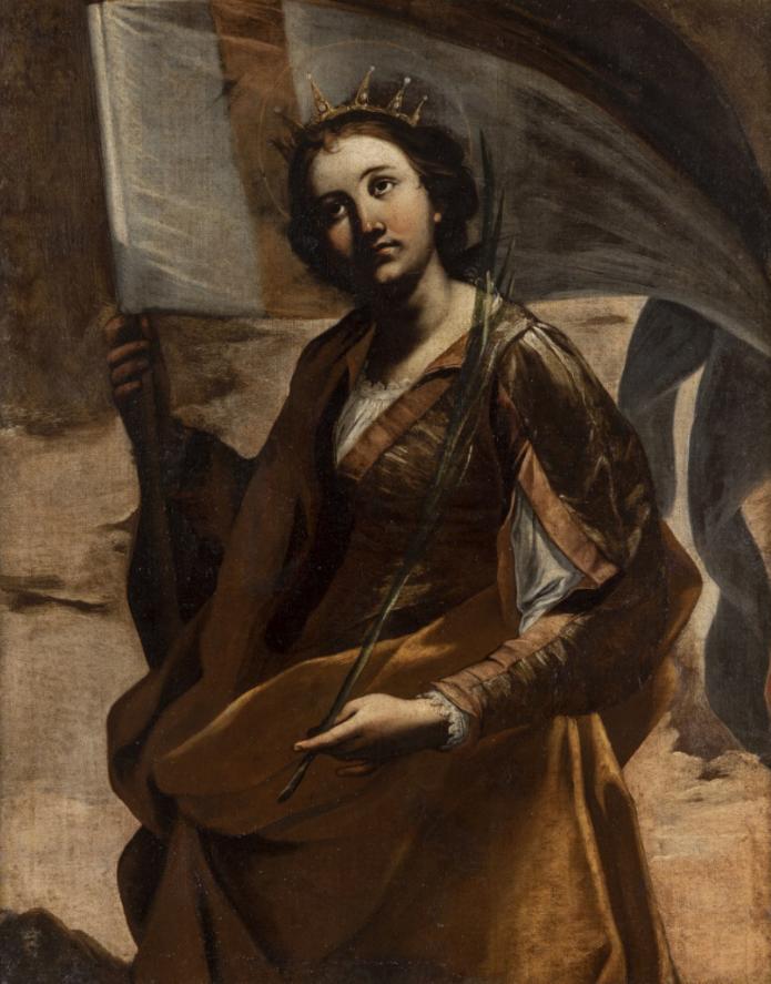 Gregorio Preti, Sant'Orsola, 1635-1640 ca.- olio su tela, Roma, Pontificio Istituto Teutonico di Santa Maria dell'Anima. Foto Mauro Coen