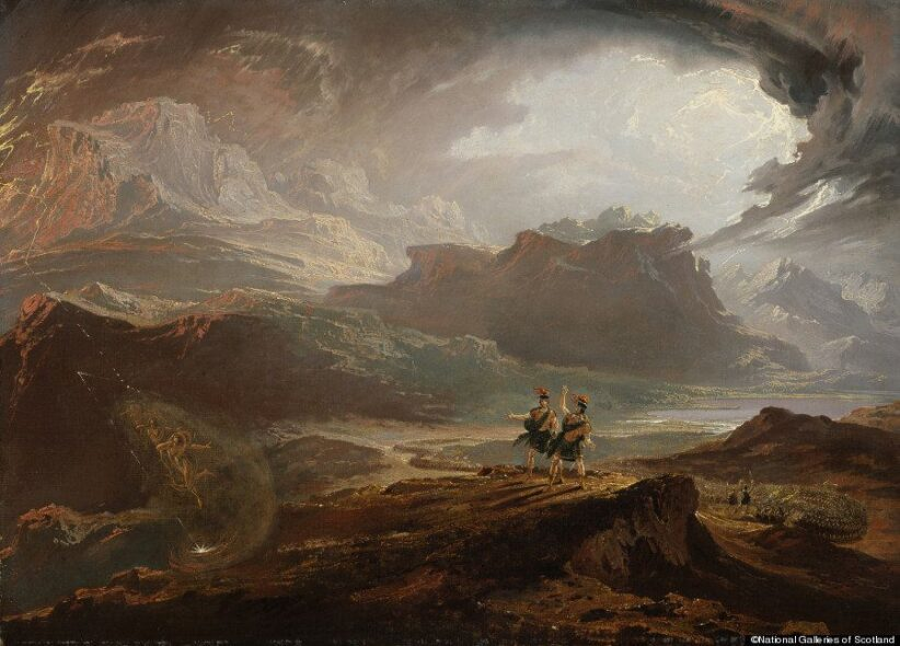 John Martin, Macbeth, about 1820, Oil on canvas framed- 86.00 x 65.10 x 7.60 cm, ©National Galleries of Scotland