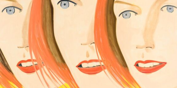 Alex Katz, Emma 4, 2017, olio su tela. © Alex Katz, VG Bild-Kunst, Bonn 2018, Courtesy Gavin Brown's Enterprise, New York / Rome, collezione privata