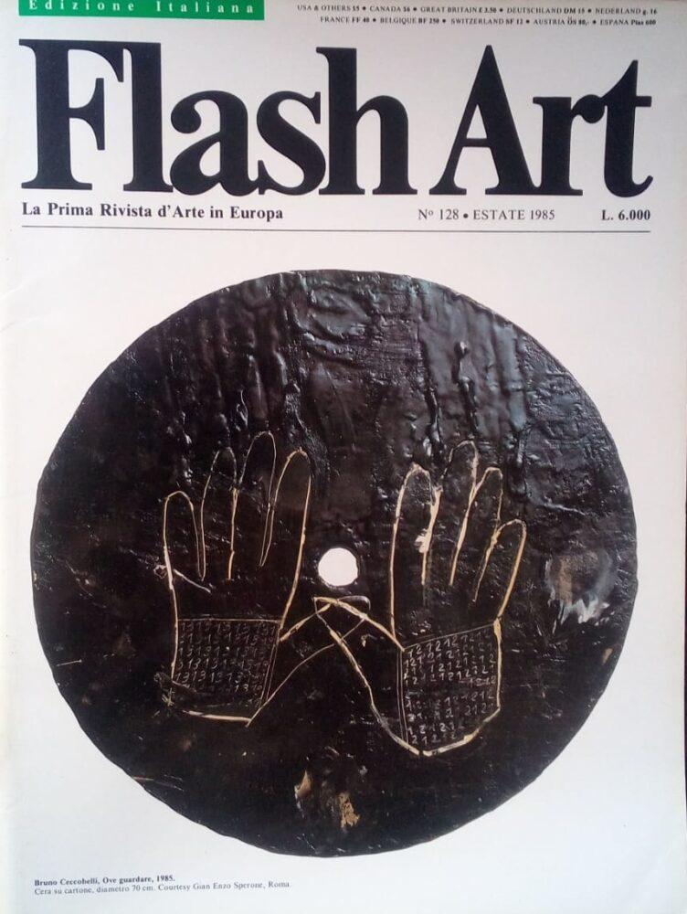 La copertina di Flash Art firmata da Bruno Ceccobelli