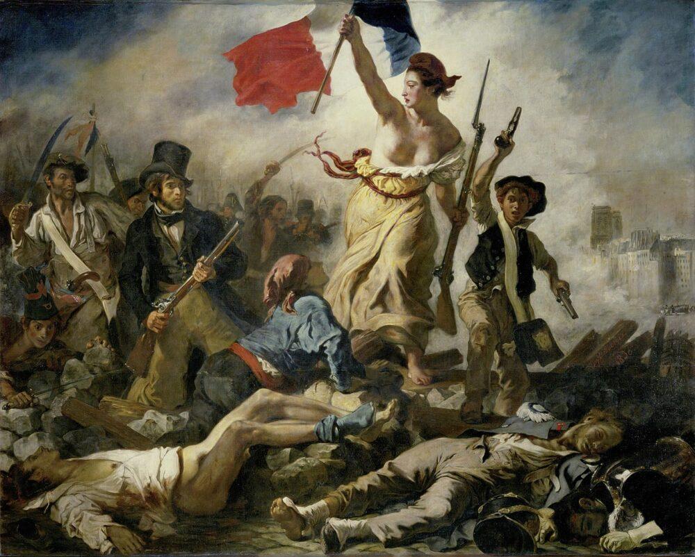 La liberté guidant le peuple, di Delacroix