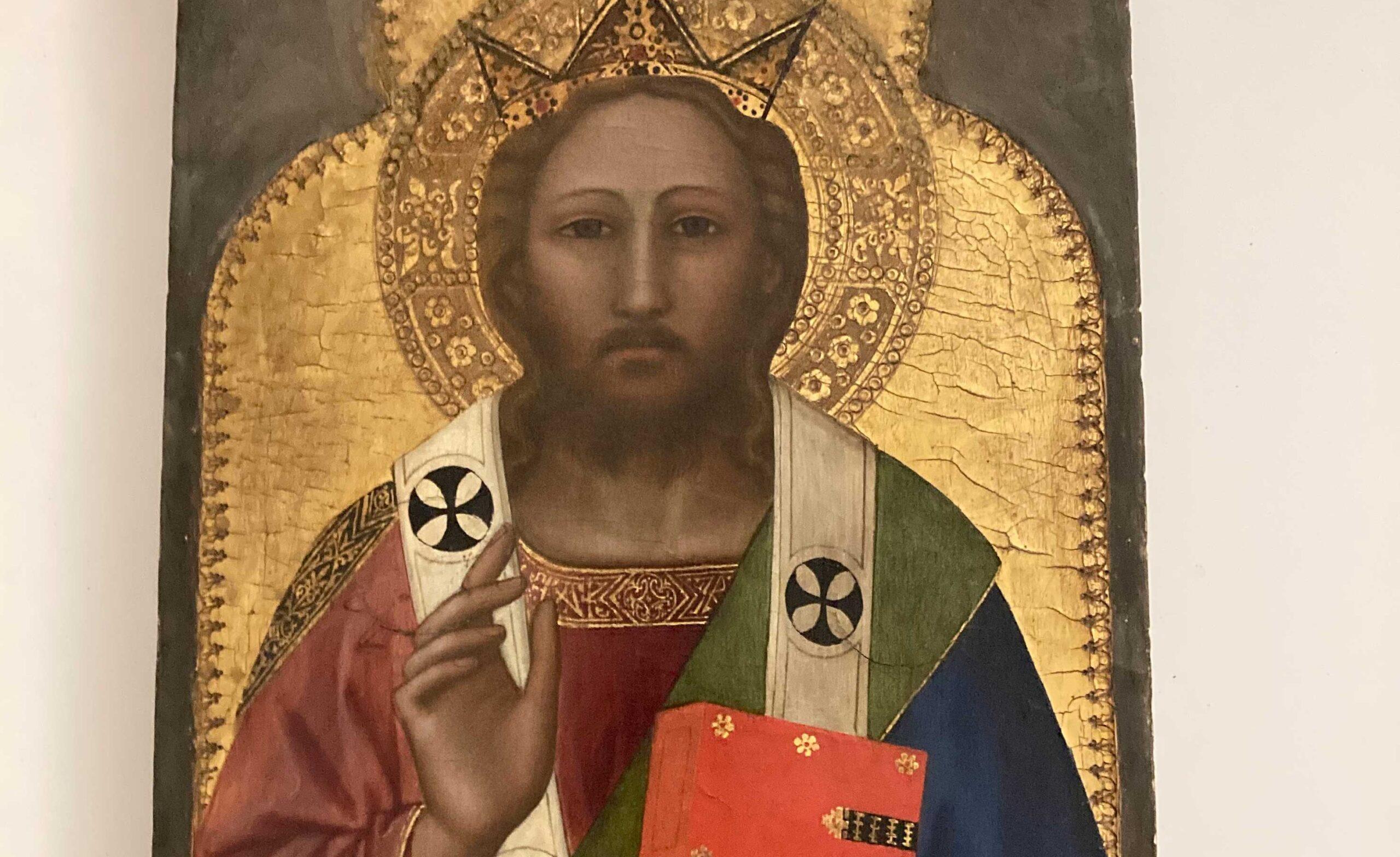 L'importantissimo Cristo Benedicente di Nardo di Cione torna in Italia, a Firenze