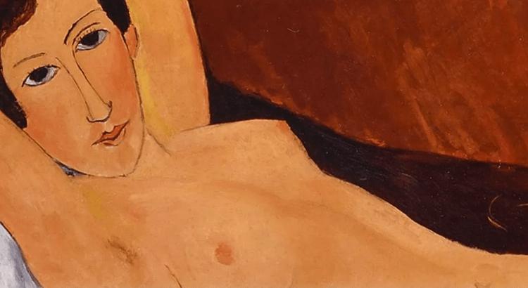 Particolare di Nudo disteso, uno dei Modigliani esposti e Genova e sotto la lente dell'accusa