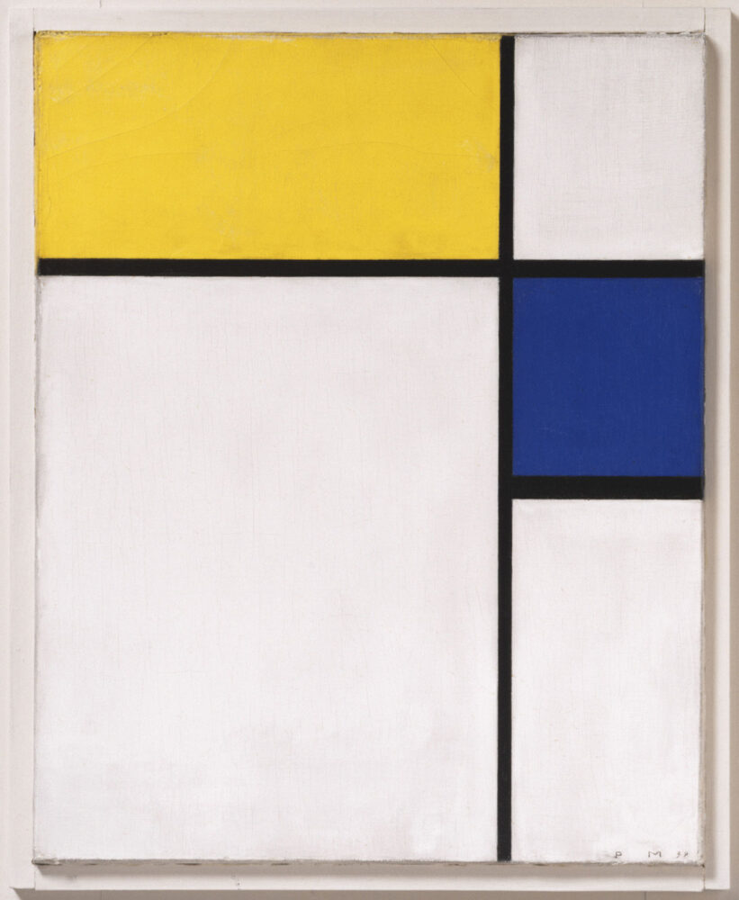 Piet Mondrian, Composition with Blue and Yellow, Philadelphia Museum of Art