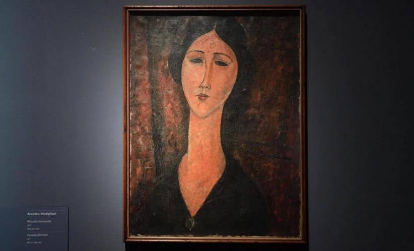 Ritratto femminile, uno dei Modigliani esposti e Genova e sotto la lente dell'accusa