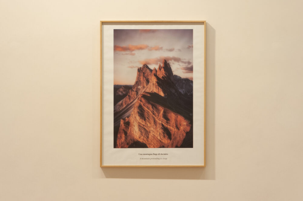 Una montagna finge di dormire, 2020, foto di Giovanni Anselmi Tamburini, courtesy Fanta MLN e l'artista