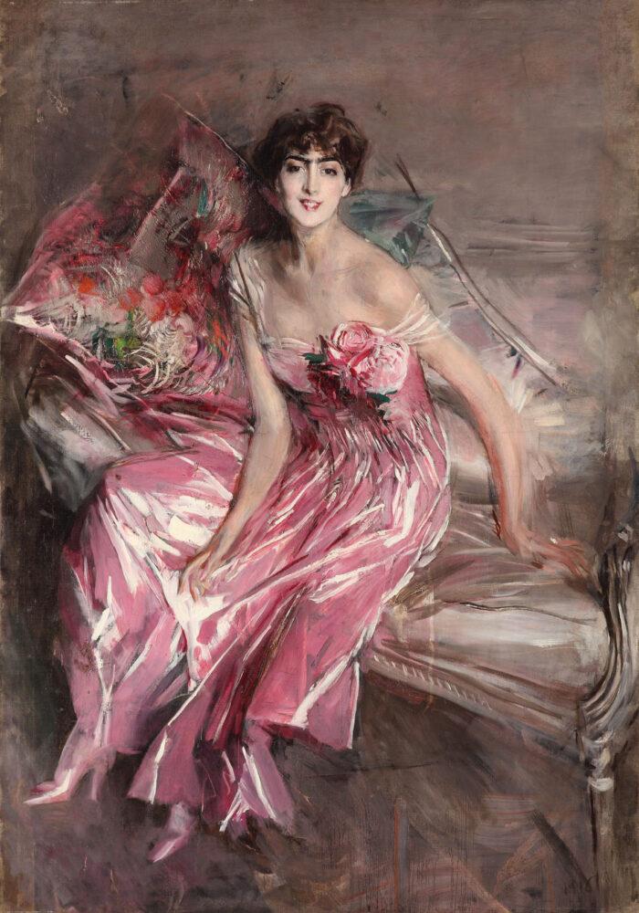 Giovani Boldini La signora in rosa (dettaglio) 1916 Museo Giovanni Boldini Ferrara