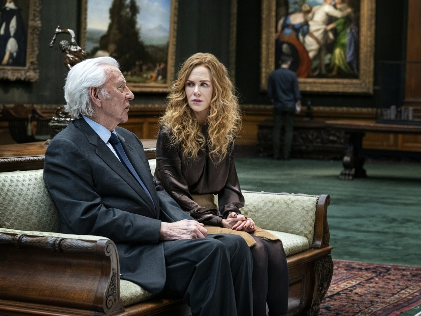 Donald Sutherland and Nicole Kidman at the Frick Collection in HBO's The Undoing. (David Giesbrecht/HBO)