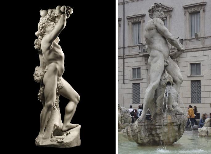 La Fontana del Moro di Piazza Navona e le evidenti similitudini con l'Autunno di Bernini