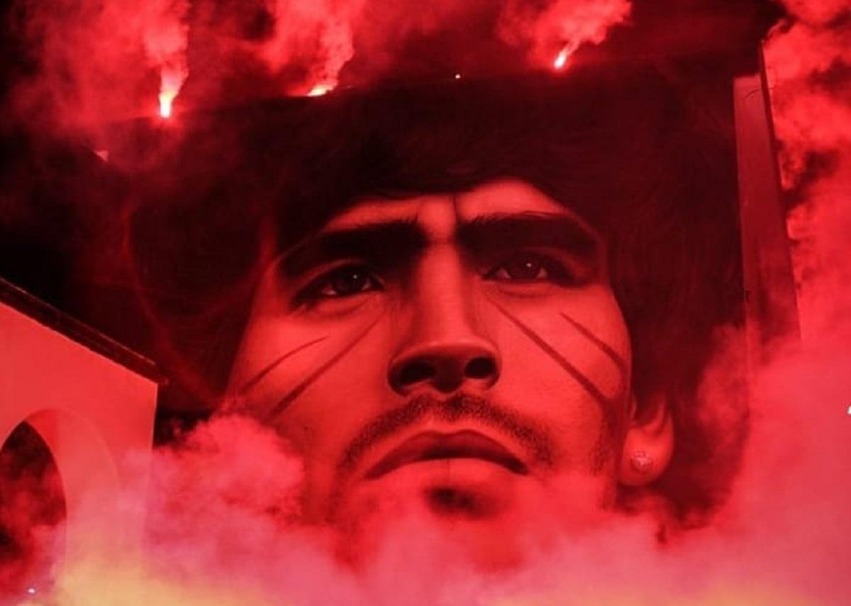 Jorit e Maradona. Ecco il nuovo straordinario murale apparso a Quarto