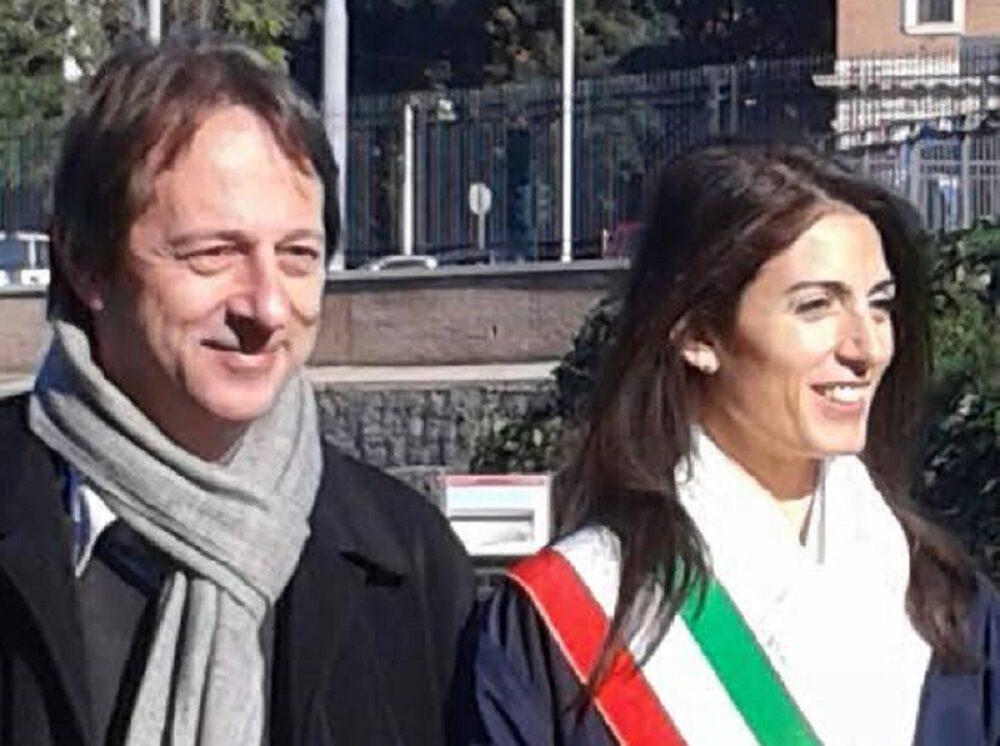 Virginia Raggi e Luca Bergamo