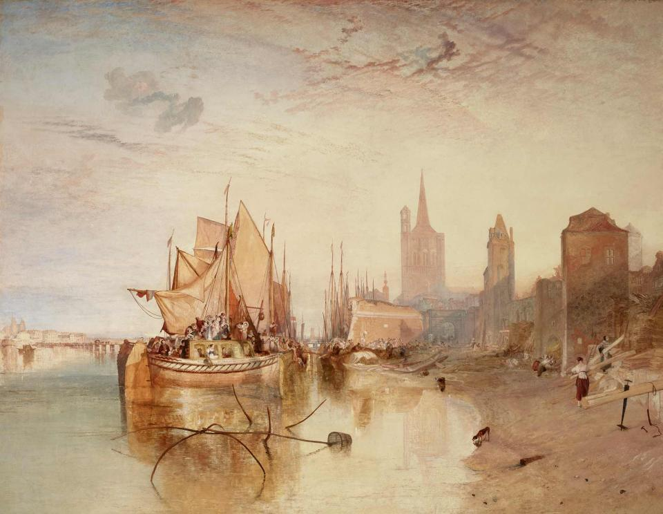 J.M.W. Turner, Cologne, the Arrival of a Packet-Boat: Evening (1826)