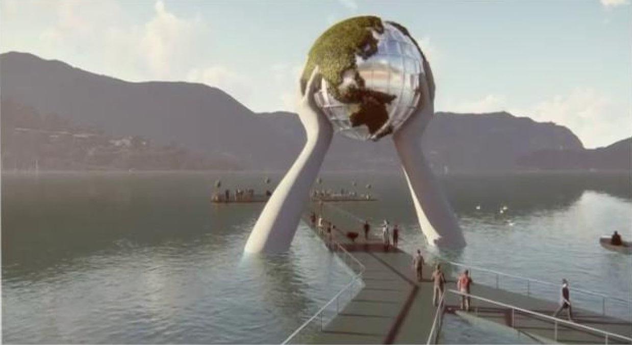 Dopo Christo, ecco Lorenzo Quinn: ufficiale la nuova installazione sul lago d'Iseo