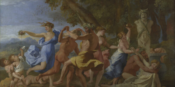 Nicolas Poussin, A Bacchanalian Revel before a Term, 1632–3 © The National Gallery, London
