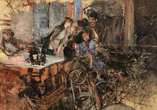 Giovanni Boldini Il bar delle Folies Bergre 1885 ca Collezione privata. Courtesy Enrico Gallerie d#8217arte