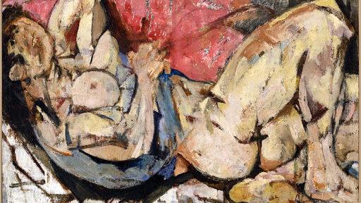 Fausto Pirandello: NUDO DISTESO, olio su cartone (1949)