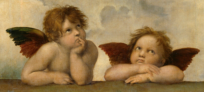 Raffaello Sanzio, Madonna Sistina (dettaglio)