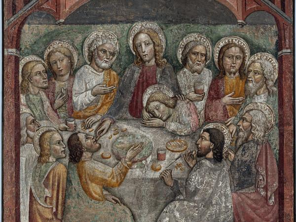 | Anonimo lombardo, secolo XV, Ultima Cena, affresco strappato riportato su tela I Ph. Antonio Mazza, Lodi