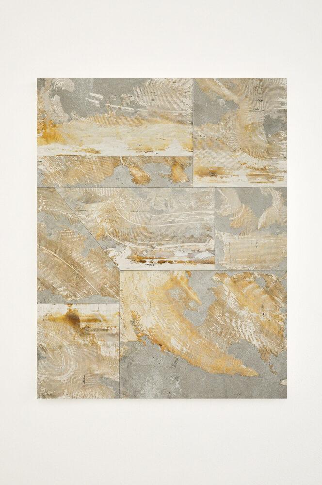 Stefano Comensoli_Nicolò Colciago - Visioni di un oltre, 2021 - flooring (linoleum) 96,5 x 74,5 x 4 cm. Courtesy the artists