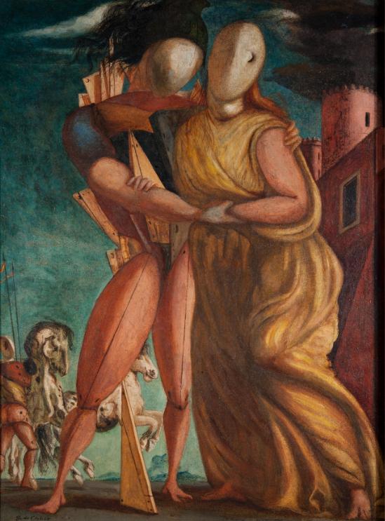 Giorgio de Chirico Ettore e Andromaca, 1924, olio su tela, 98 x 75.5 cm, Galleria Nazionale d'Arte Moderna e Contemporanea di Roma © Giorgio De Chirico by SIAE 2020