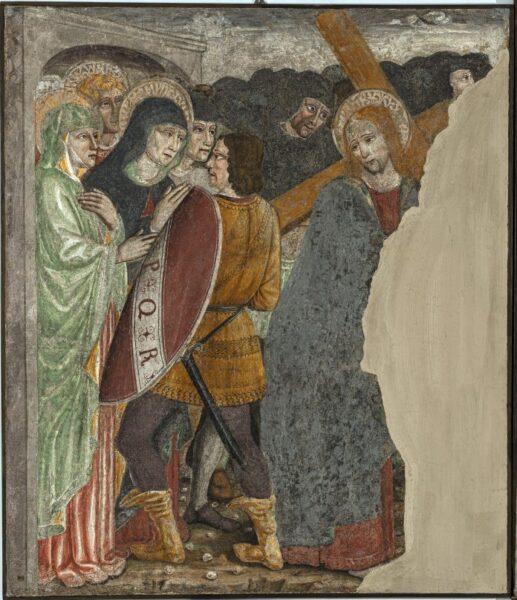 Anonimo lombardo, secolo XV, Salita al calvario, affresco strappato riportato su tela © UBI BANCA ph. Antonio Mazza, Lodi
