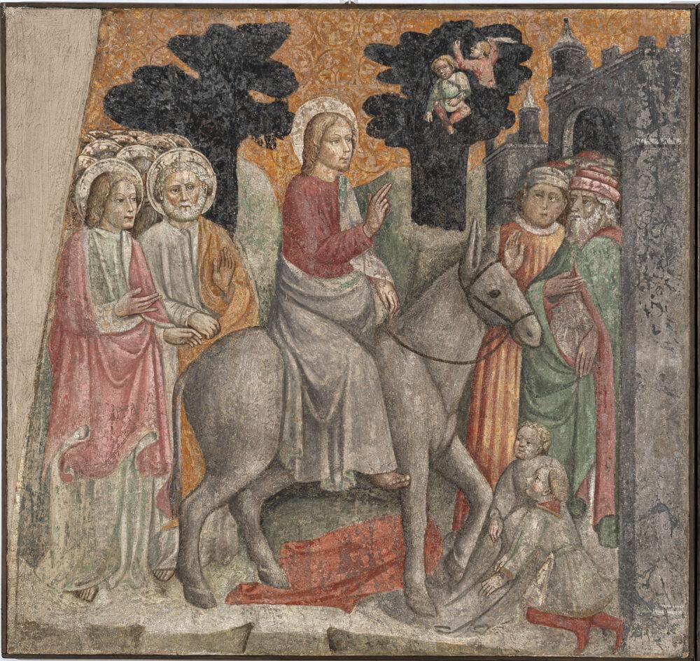 Anonimo lombardo, secolo XV, Ingresso a Gerusalemme, affresco strappato riportato su tela © UBI BANCA ph. Antonio Mazza, Lodi