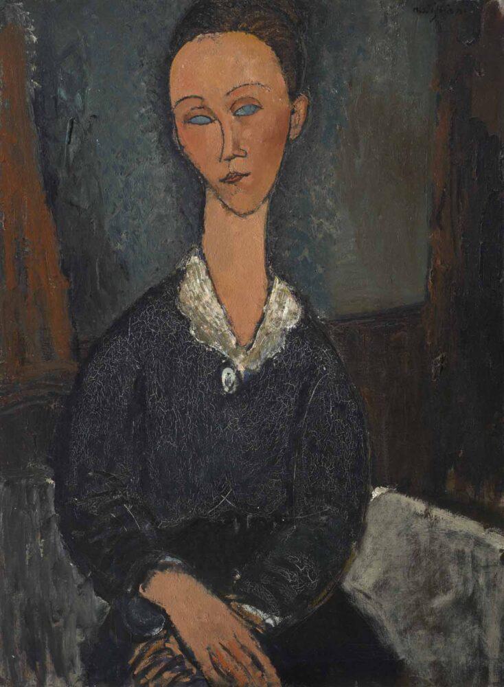 Amedeo Modigliani, Femme au col blanc, 1917, olio su tela